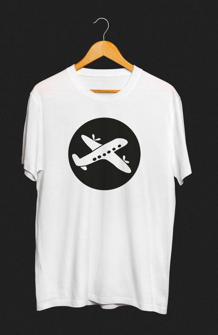 Aeroplane – men's screen printed t-shirt by yoinkprintshop on Etsy