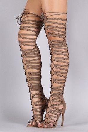 Best 25  Thigh high gladiator heels ideas on Pinterest | Thigh ...