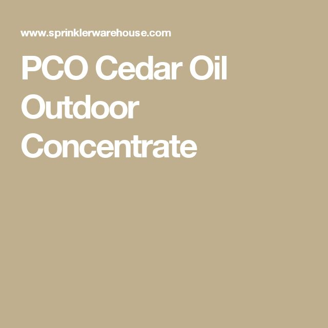 PCO Cedar Oil Outdoor Concentrate