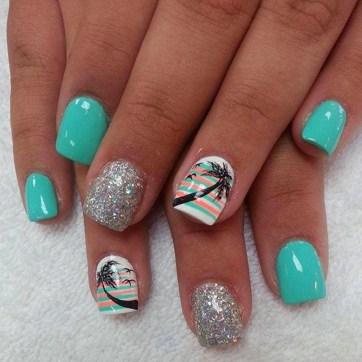 Дизайн ногтей для моря фото