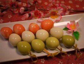 朝ごはんに♡お花見弁当に♡うずらで三色団子  レシピブログ