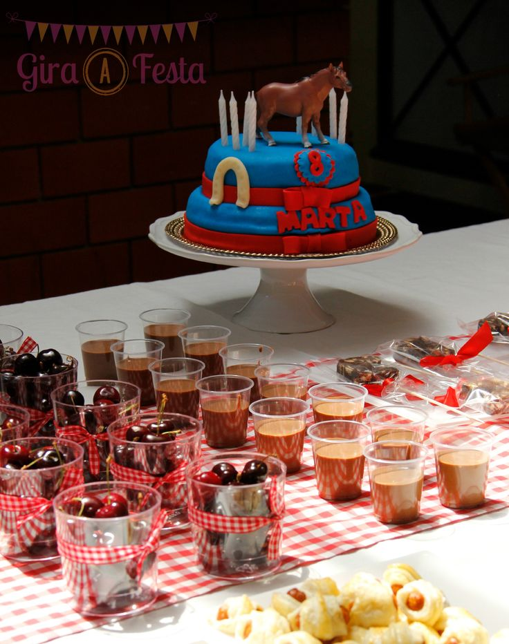 Details from equestrian birthday party.