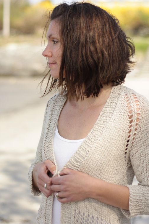 Sandshore Cardigan - Kestrel - worsted linen - Quince  Co.