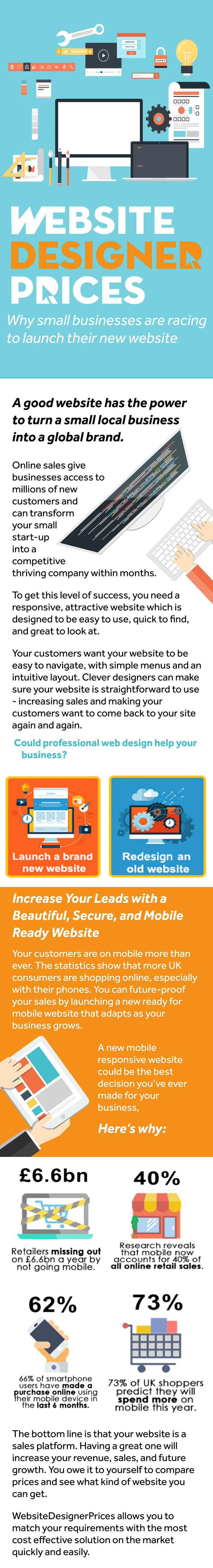 Need a professional website for your business in 2017? Compare Website Designer prices and save up to 75%! Hiring expert web designers has never been so easy. Compare web design companies & find the most suitable offering for your business! All you need to do is enter your name postcode and email address, and we'll find the best offers for you completely free.