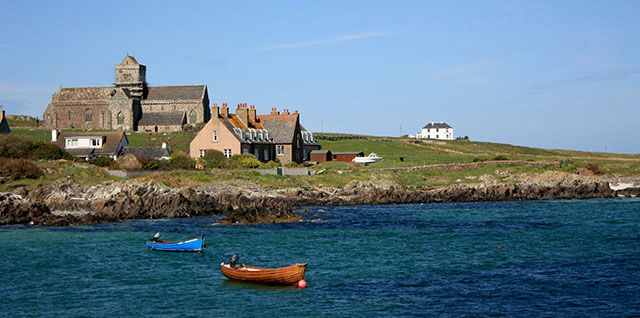 Iona Abbey from across the Bay #NTSIslands