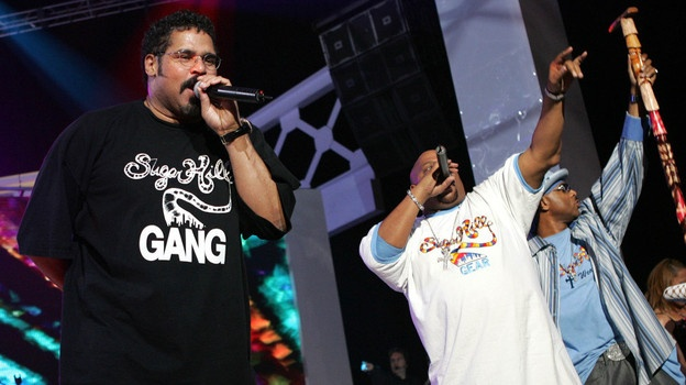 The Sugarhill Gang perform onstage at the close of the VH1 Hip Hop Honors at the Hammerstein Ballroom on October 3, 2004 in New York City. - 'Rapper's Delight'