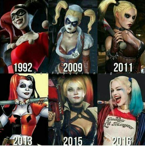 Harley in 1996 to 2016 #HerleyQuinn! #Iloveher!! #Sheissocute!!