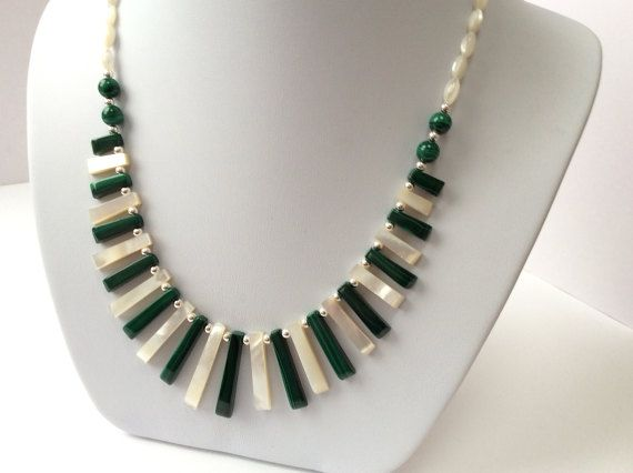 Hey, I found this really awesome Etsy listing at https://www.etsy.com/se-en/listing/508944145/green-malachite-and-mother-of-pearl-bib
