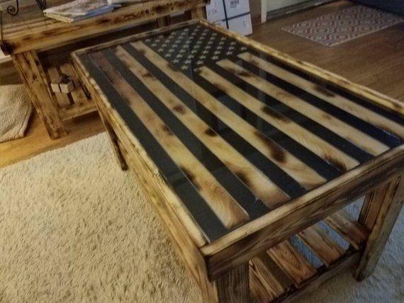 Wood Inlay American Flag Coffee Table Wood Table Diy American