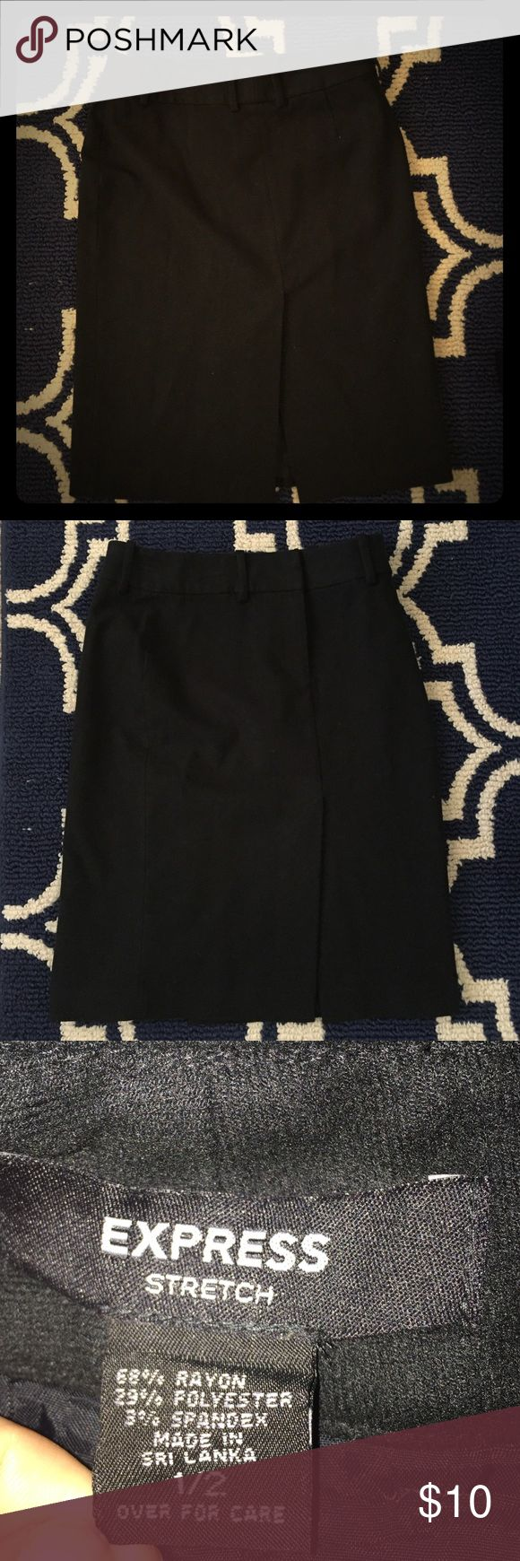 Express Stretch Pencil Skirt (1/2 size)with Slits Express Stretch Pencil Skirt with Slits *Slits in front and back of skirt. *Belt Loops Express Skirts Pencil