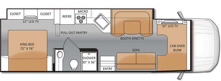 the 33SW is the new Super C RV Floor Plan from Thor Motor Coach...