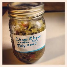 Fatback and Foie Gras: Chow Chow Relish Recipe