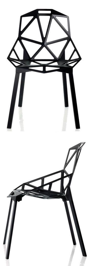 Konstantin Grcic: Chair One (Set of 2) Black | Available from NOVA68.com Modern Design