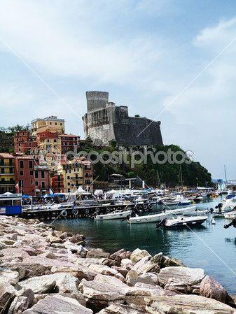 The port of Lerici, Liguria, Italy