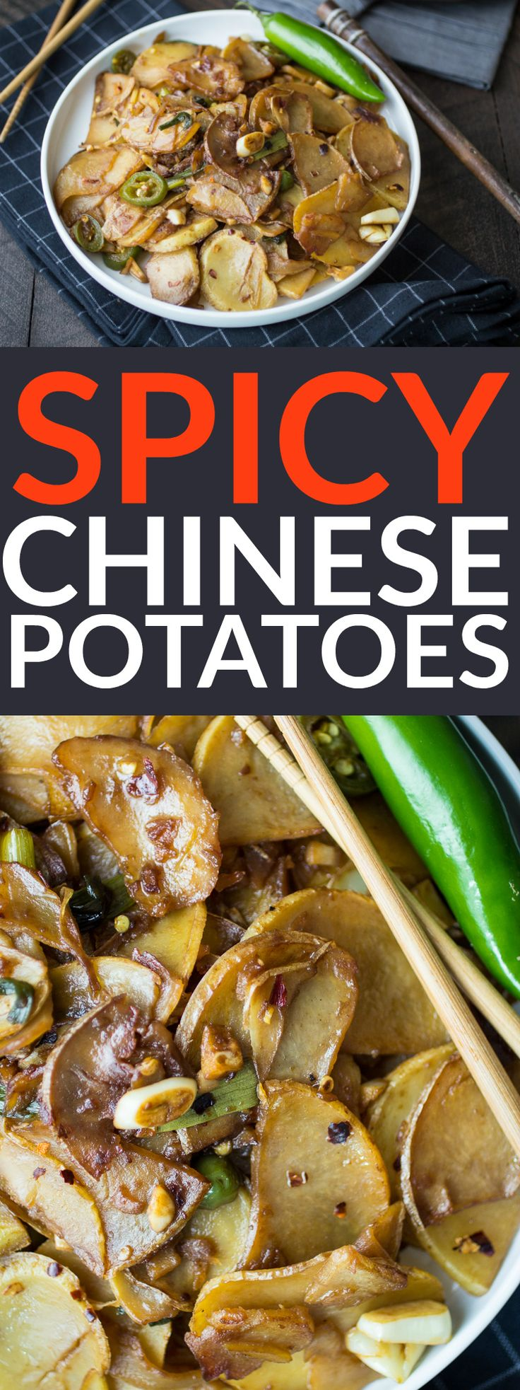 452 best asian indian food and recipes images on pinterest asian spicy chinese potatoes are the perfect easy side dish for chinese take out night forumfinder Choice Image