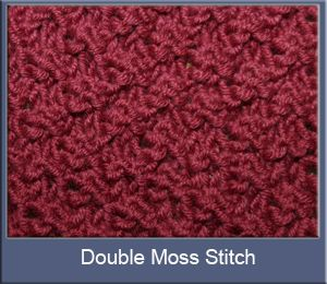 Knitting Double Moss Stitch Instructions : reference