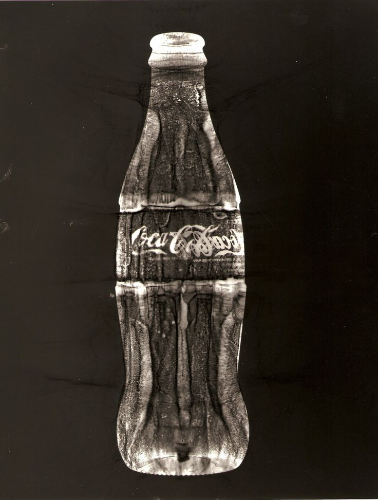 coca cola bottle, creates another interesting effect and image