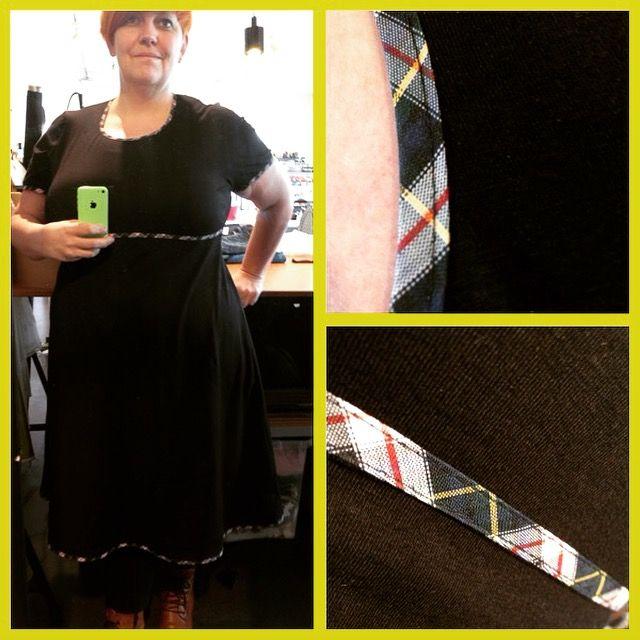 Kjole i sort Jersey fra www.stofrullen.dk , jerseydress,