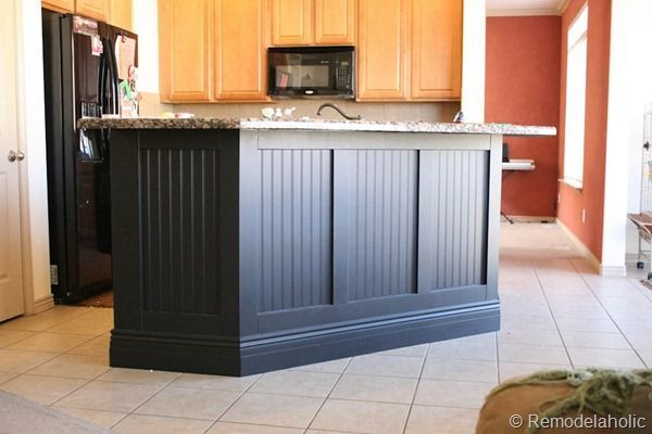 amazing kitchen makeover using beadboard and board and batten #tutorial #makeover #kitchen