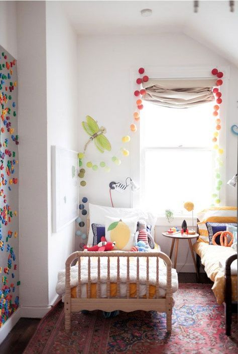 the kids room in our 500 square foot apartment | Oh Happy Day
