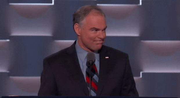 Thank you, Sen. Kaine, for restoring out faith in AMERICA. | People Discovered Tim Kaine Was Really Hot And Are Thirsting Hard