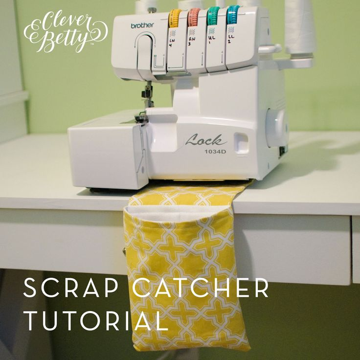 You Had Me At Handmade...: Scrap Catcher Tutorial (Thread/Scrap Catcher for Overlocker/Sewing Machine)