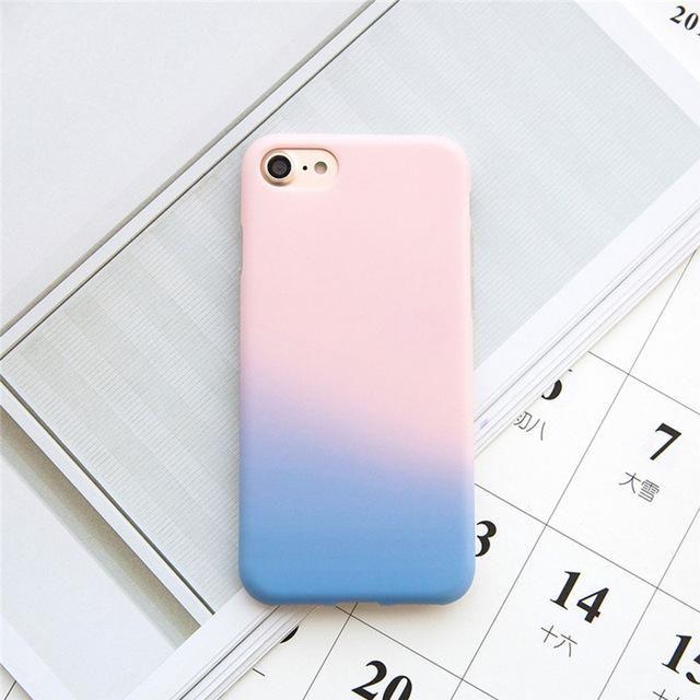 Cute Pink Phone Case For Apple iphone 7 Plus Ultra Slim Matte TPU ...