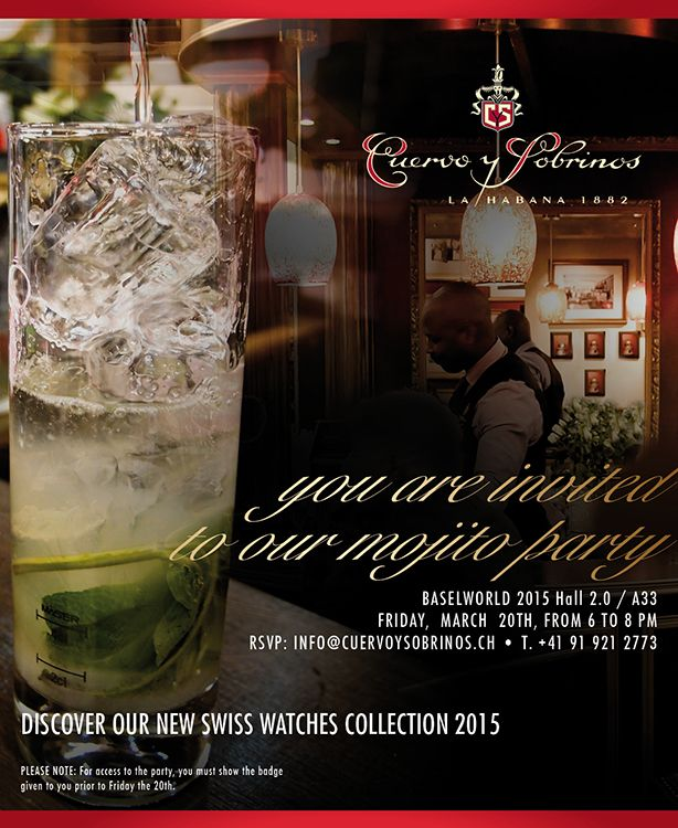 Cuervo y Sobrinos Mojito Party at Baselworld 2015