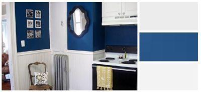 Χρωματα : Απαλό Γκρι σε 2 τόνους και Blue Navy. Ο συνδυασμός αυτός προτείνεται ιδιαίτερα όταν η κουζίνα είναι ενιαία με το καθιστικό.