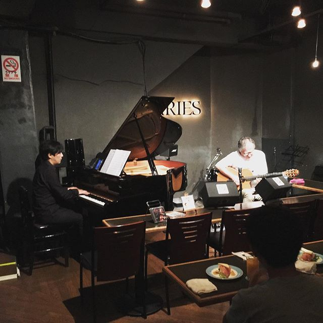 今夜のライブも最高でした!Pf:河野啓三さん(T-SQUARE)Gt:片桐幸男さん素晴らしい演奏をありがとうございました。