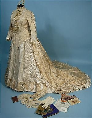 Early Edwardian wedding gown and trousseau.