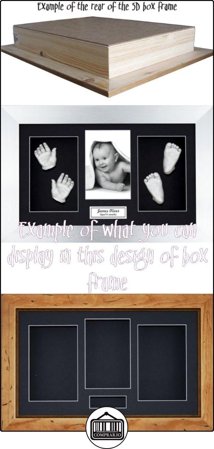 """BabyRice 14,5x 8,5""""Pino rústico caja de sombra 3d medalla recuerdo emite una pantalla de flores marco/negro 4aperturas), color negro  ✿ Regalos para recién nacidos - Bebes ✿ ▬► Ver oferta: http://comprar.io/goto/B00FSAKBAG"""