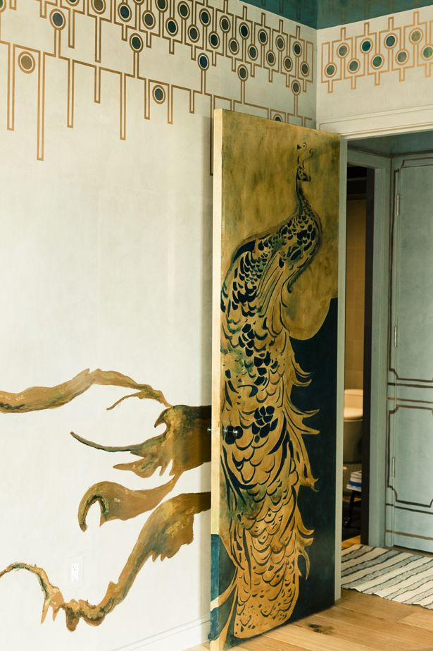 Beautiful: The Doors, Paintings Doors, Interiors, Peacocks Doors, Murals, Wall Decoration, Elle Decoration, Artdeco, Art Deco