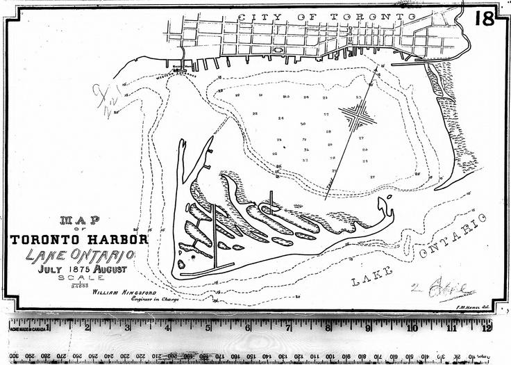 """Map of Toronto Harbor"" (1875), Map & Data Library, University of Toronto Libraries"