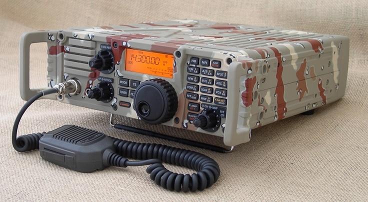 I-Com 7000 HF Radio in Cammo
