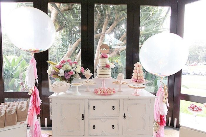 Pretty in Pink Baptism Dessert Table via Kara's Party Ideas   KarasPartyIdeas.com (9)