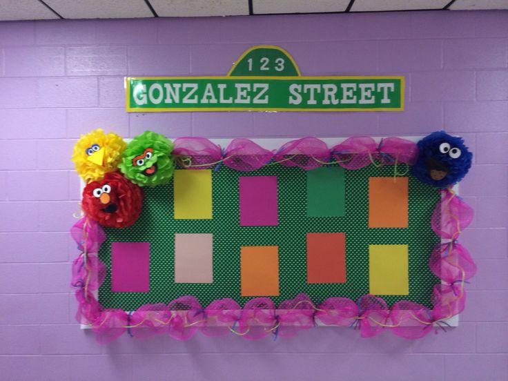 Sesame Street theme bulletin board 2015