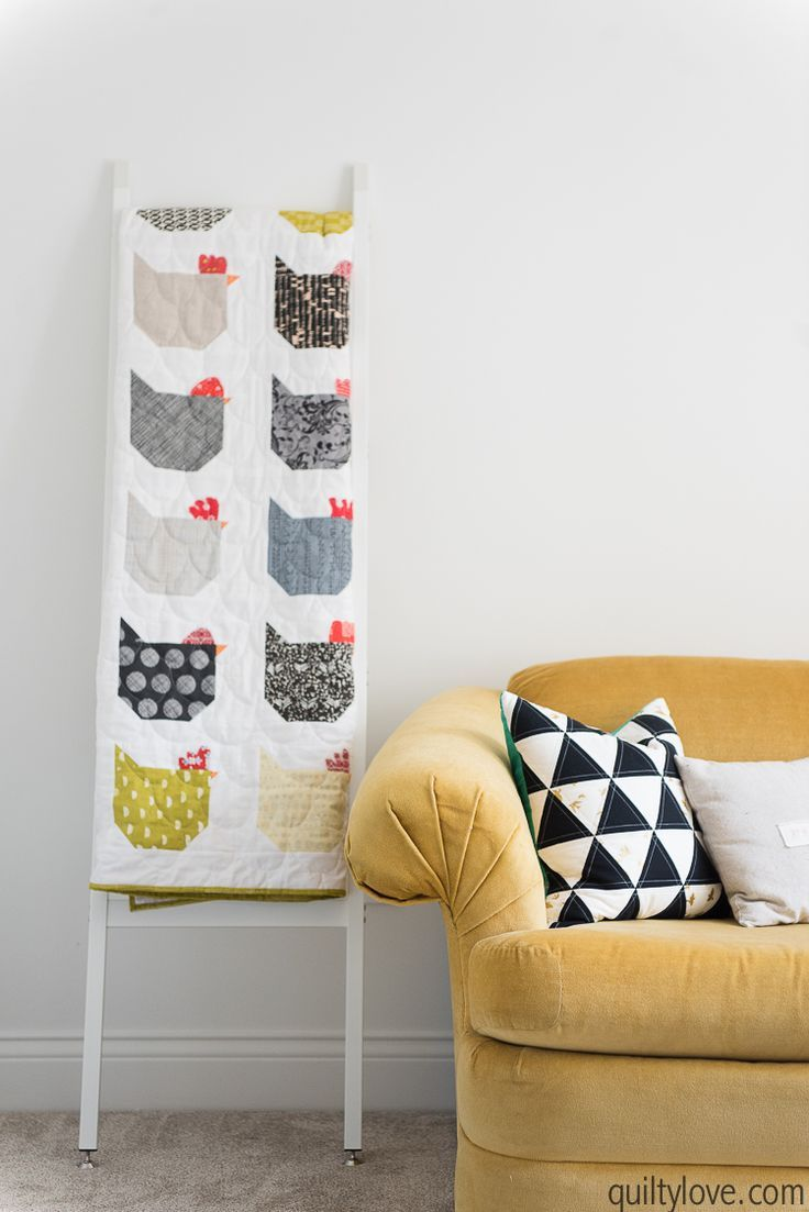 The Chicken Quilt - link to free tutorial | Patchwork | Pinterest
