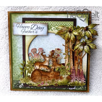 Heartfelt Creations - Fathers Day Woodsy Scene Project