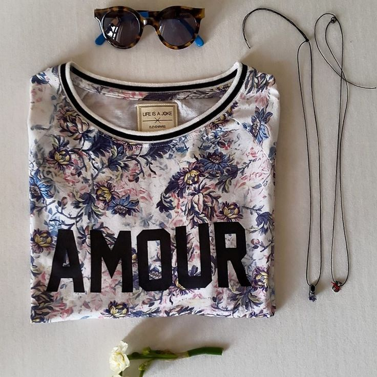 Summer outfit   Antonella Boutique  #ElevenParis #Tshirt #summer #flowers #KaterinaIoannidis #necklace #greektsarouhi #ship #Sherrif&cherry #sunglasses #AntonellaBoutique