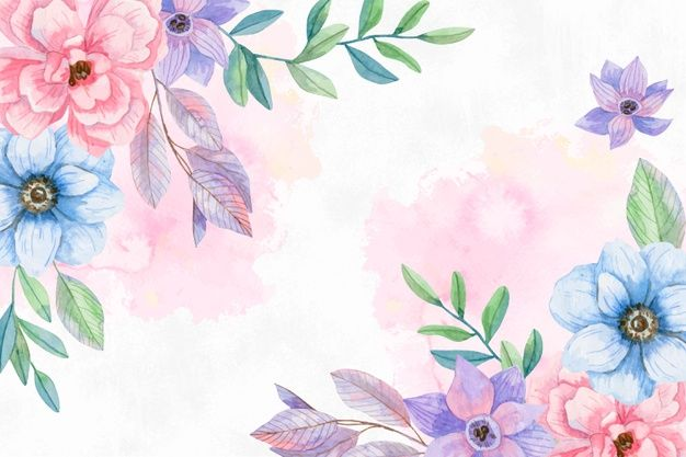 Download Watercolor Flowers Background In Pastel Colors For Free In 2020 Watercolor Flowers Watercolor Flower Background Vintage Floral Backgrounds
