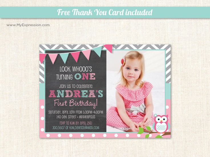 36 best First Birthday Invitations Girl images – Polka Dot First Birthday Invitations