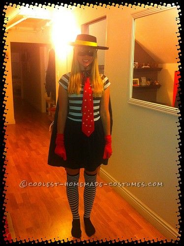 Last-Minute Homemade Hamburglar Costume for a Woman... Coolest Homemade Costumes