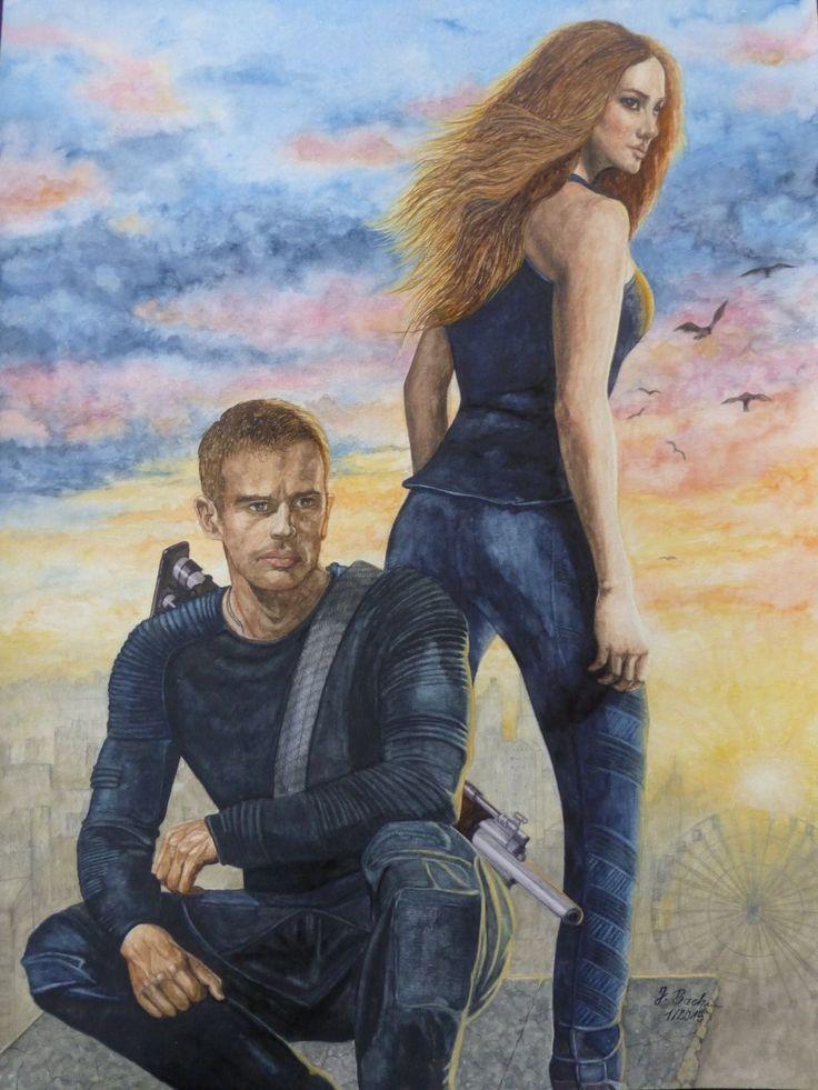 Beatrice (Tris) Prior gespielt von Shailene Woodley und Four gespielt von Theo James im Film Die Bestimmung - Divergent - Jutta Bachmann