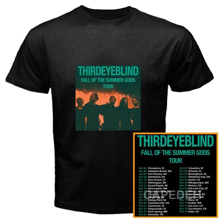 Third Eye Blind Fall of Summer Gods tour dates oct-nov 2017 black tees; Material 100% cotton, Basic style; Short sleeve;