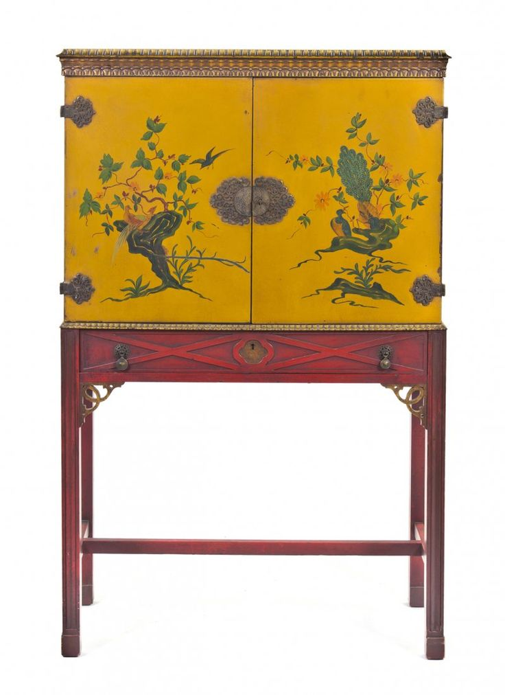 Chinoiserie Decorated Cabinet on Stand