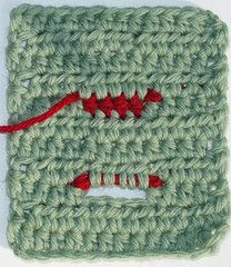 crochet by faye: Wait, how did that buttonhole get there? - fabulous step-by-step tutorial with pictures