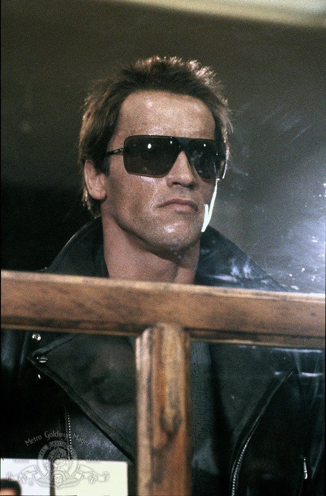 "Arnold Schwarzenegger / (1947- , age 37) as Terminator in ""The Terminator"", 1984"
