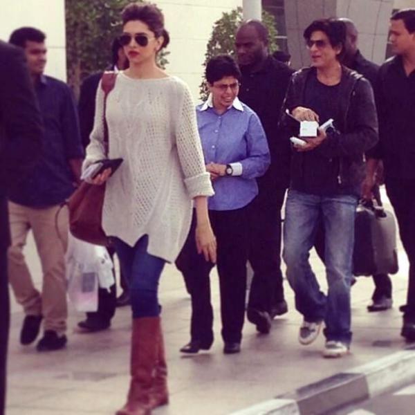 Chenaai Express Stills & Pics. Shahrukh Khan & Deepika Padukone doing promotions for their upcoming movie Chennai Express in Dubai