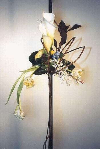 Usporiadanie kvety - svadobné kytice Nouveau